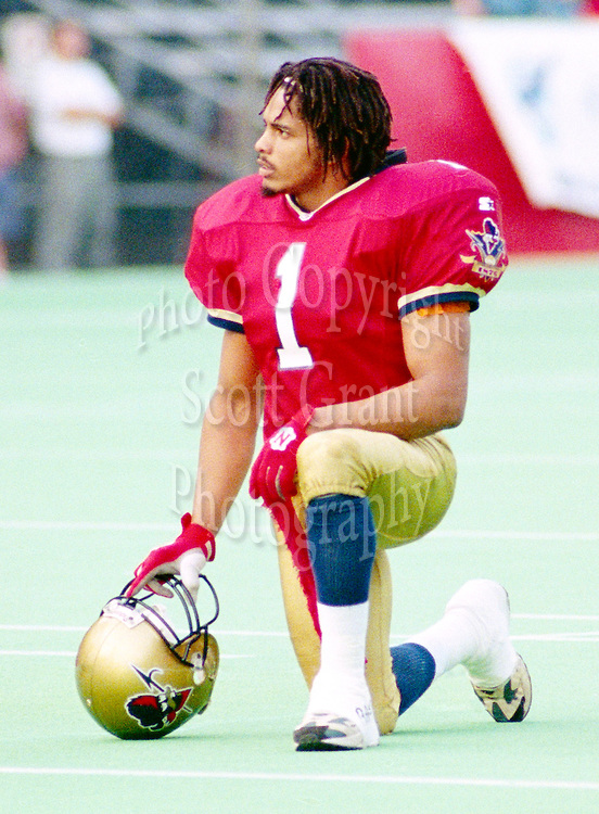 Rohan Marley Ottawa Rough Riders 1995. Photo John Bradley