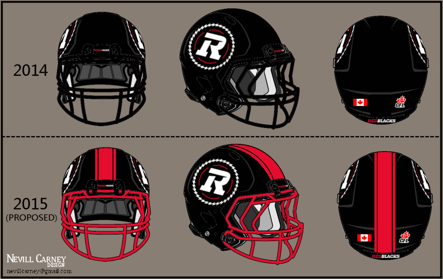 Nevill's Take: Redblacks home helmets need more red!