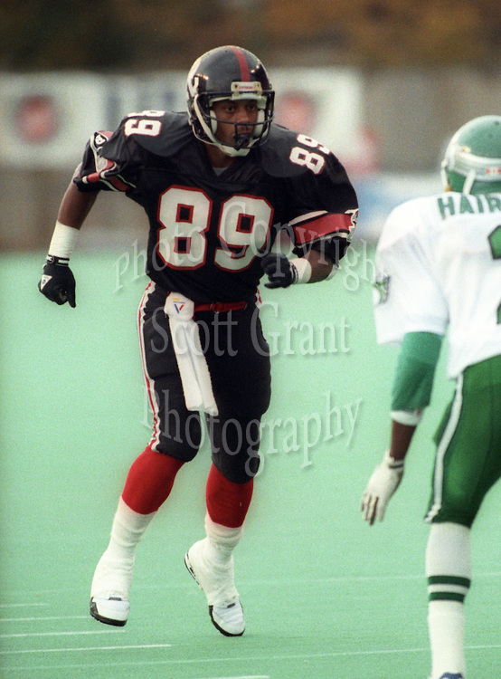 Stephan Jones Ottawa Rough Riders 1991. Photo F. Scott Grant